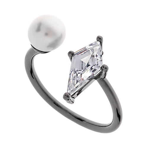 Pearl Cubic Ring DRCP006B