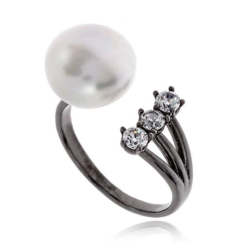 Pearl Cubic Ring DRCP010B