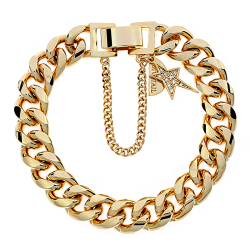 Unbalance Star Point Gold Chain Bracelet