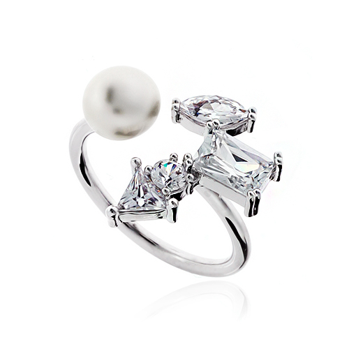 Pearl Cubic Ring DRCP022S