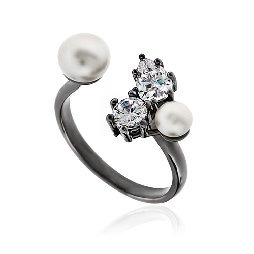 Pearl Cubic Ring DRCP023B
