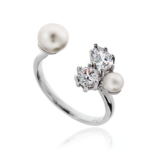 Pearl Cubic Ring DRCP023S
