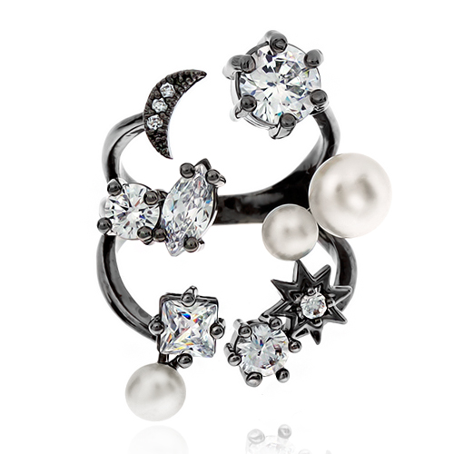 Pearl Cubic Ring DRCP024B