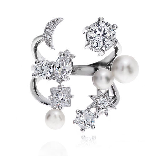 Pearl Cubic Ring DRCP024S