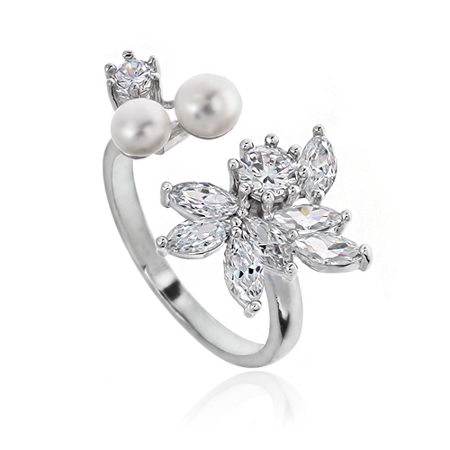 Pearl Cubic Ring DRCP025S