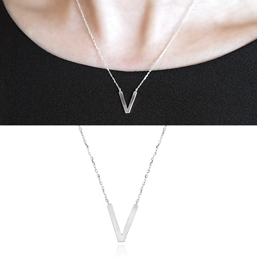 [925 Silver]Basic V Necklace