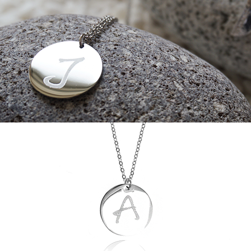 Initial Coin Long Necklace