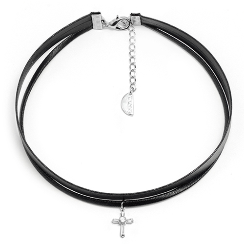 Cross Layered Rock Chic Choker