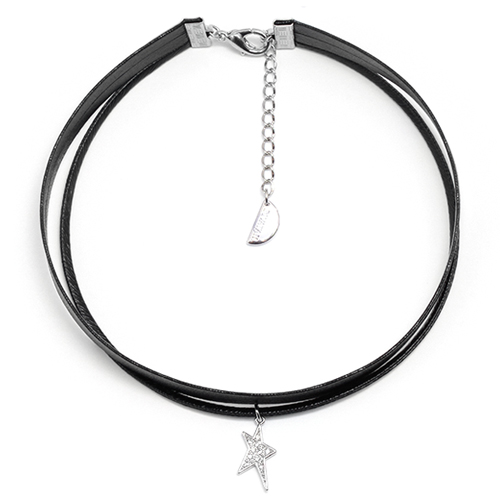 Unbalance Star Layered Rock Chic Choker