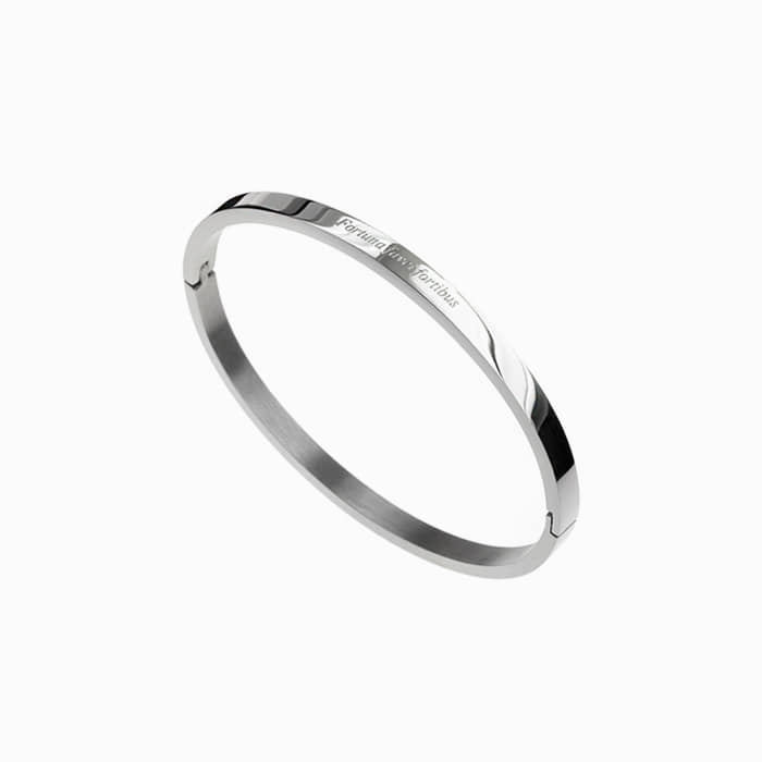[각인팔찌]4mm Lettering Simple Bangle