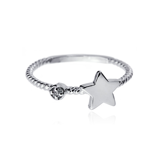 [마디반지]Silver Mini Star Knuckle Ring