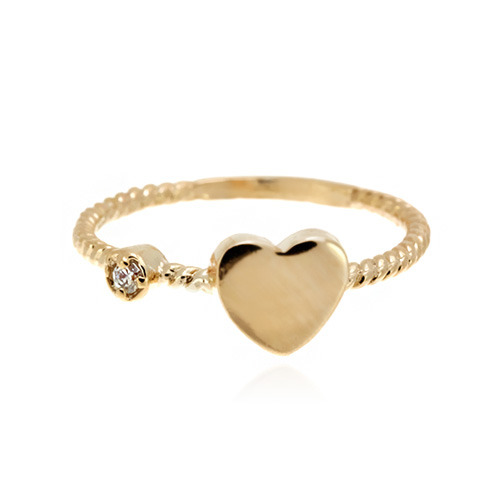 [마디반지]Gold Mini Heart Knuckle Ring