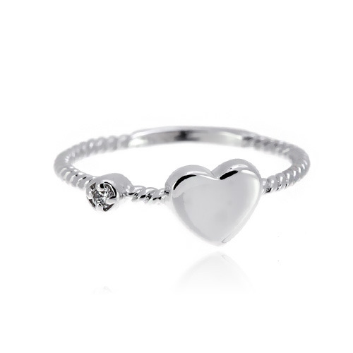 [마디반지]Silver Mini Heart Knuckle Ring