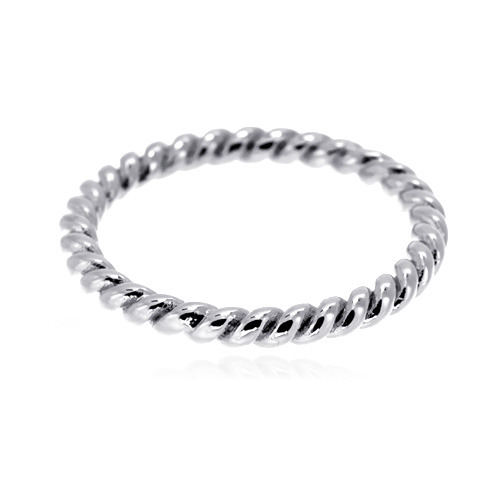 [마디반지]Silver Twist Knuckle Ring