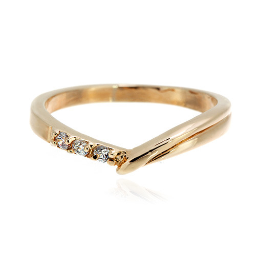 [마디반지]Gold CZ Contrast Knuckle Ring