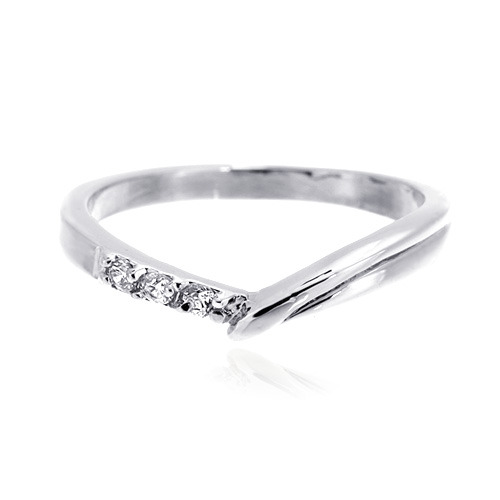 [마디반지]Silver CZ Contrast Knuckle Ring