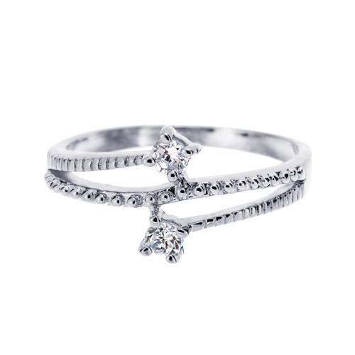 Silver Shining CZ Layered Ring