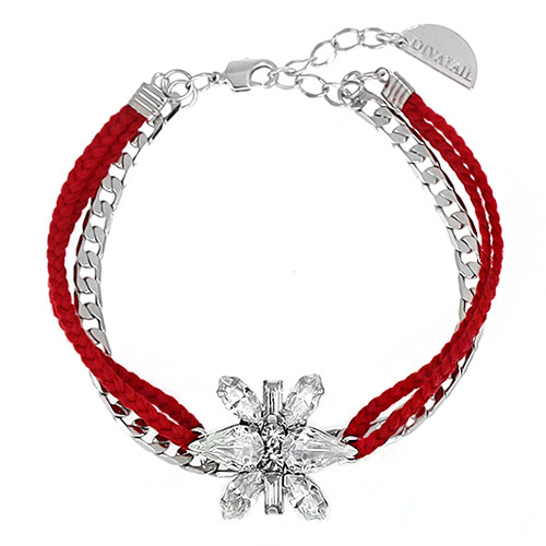 [소원팔찌]Decalcomanie Crystal Red Misanga Bracelet