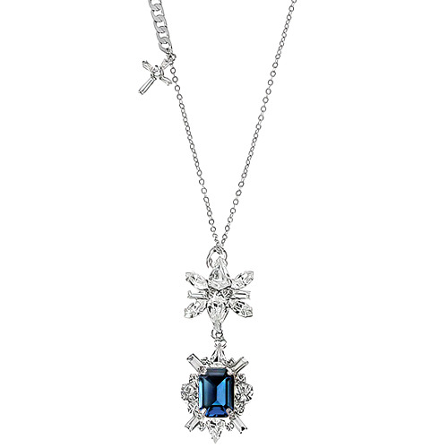 [롱목걸이]Montana DS Crystal Cross Long Necklace