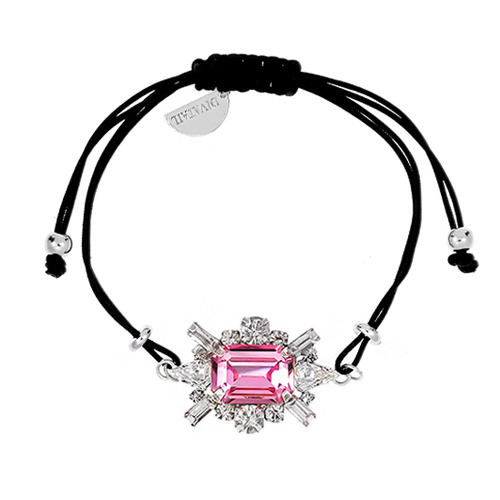 [소원팔찌]Shiny Rose Crystal Knot Bracelet