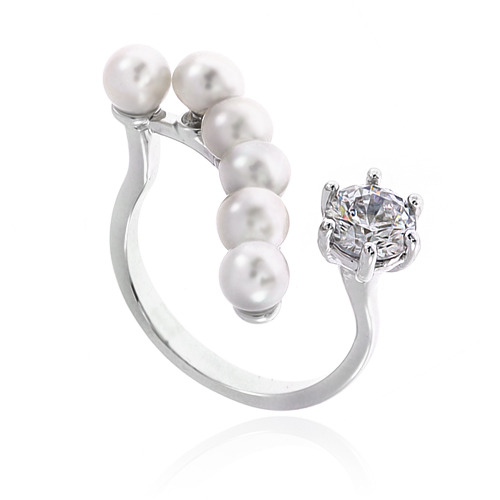 Pearl Cubic Ring DRCP003S
