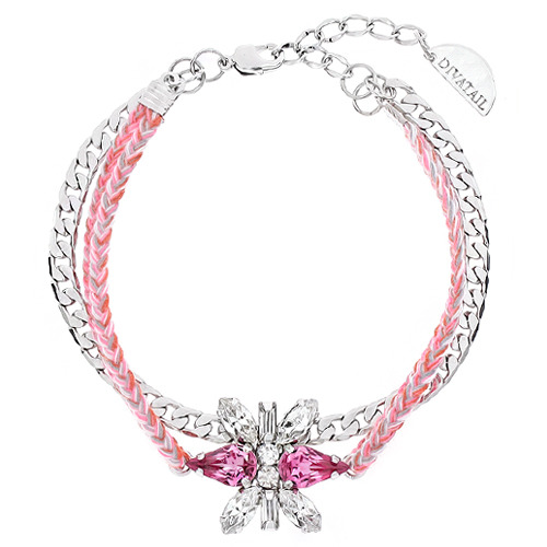 [소원팔찌]Decalcomanie Crystal Rose Misanga Bracelet
