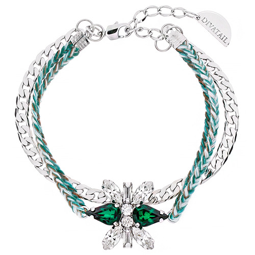 [소원팔찌]Decalcomanie Crystal Emerald Misanga Bracelet