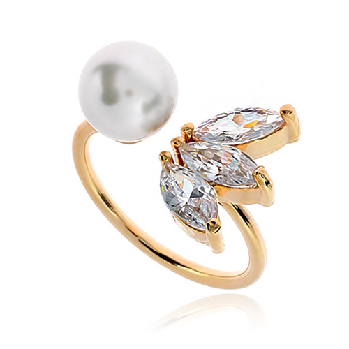 Pearl Cubic Ring DRCP009G