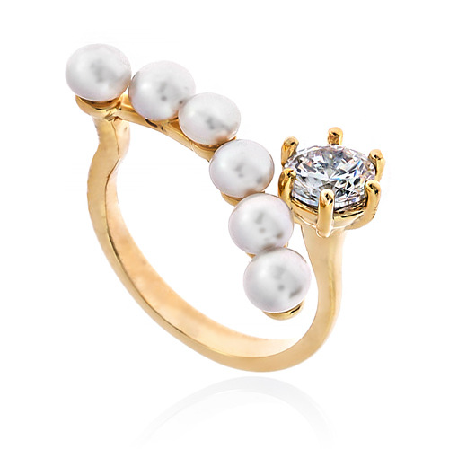 Pearl Cubic Ring DRCP003G