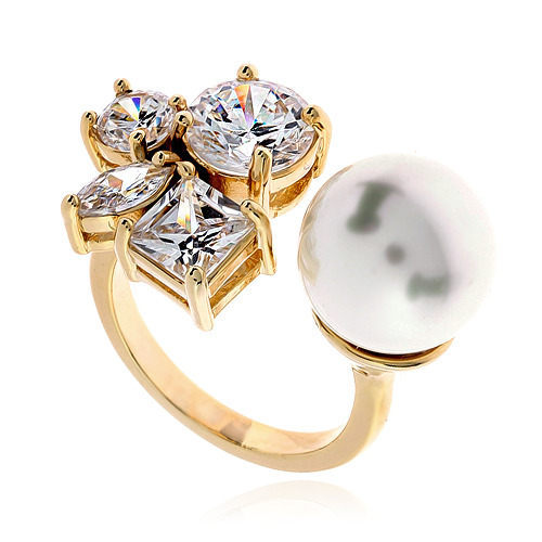 Pearl Cubic Ring DRCP011G
