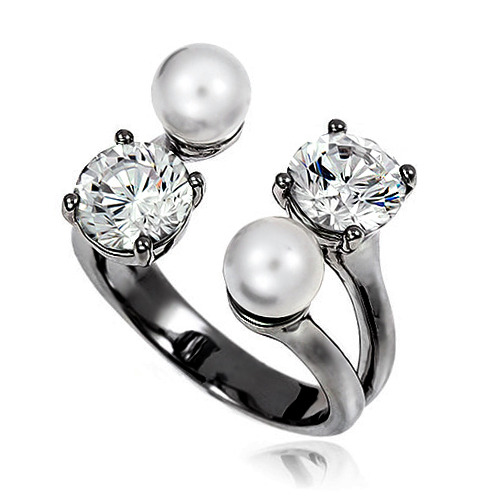 Pearl Cubic Ring DRCP001B