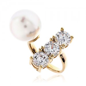Pearl Cubic Ring DRCP002G