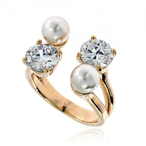 Pearl Cubic Ring DRCP001G