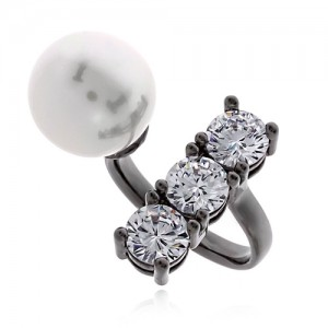 Pearl Cubic Ring DRCP002B