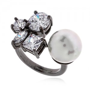 Pearl Cubic Ring DRCP011B