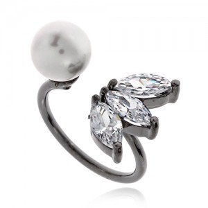 Pearl Cubic Ring DRCP009B