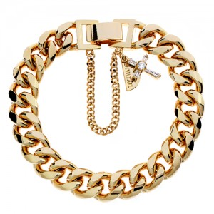 Cross Point Gold Chain Bracelet