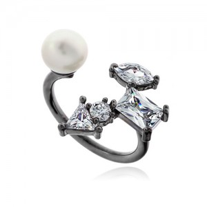 Pearl Cubic Ring DRCP022B