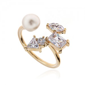 Pearl Cubic Ring DRCP022G