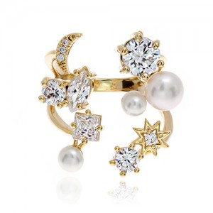 Pearl Cubic Ring DRCP024G