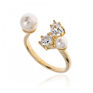 Pearl Cubic Ring DRCP023G