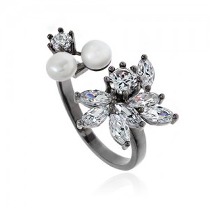 Pearl Cubic Ring DRCP025B