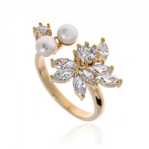 Pearl Cubic Ring DRCP025G