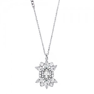 [롱목걸이]Crystal Sunburst Necklace