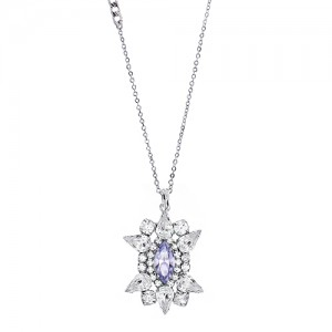 [롱목걸이]Crystal Sunburst Tanzanite Necklace