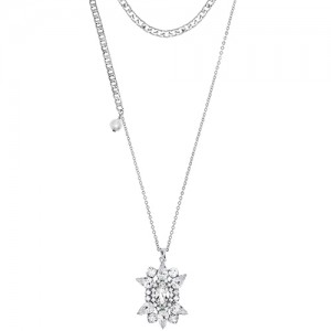[롱목걸이]Crystal Sunburst layered Necklace