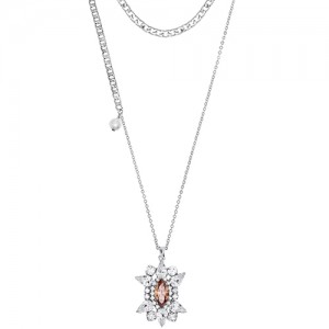 [롱목걸이]Crystal Sunburst Topaz layered Necklace