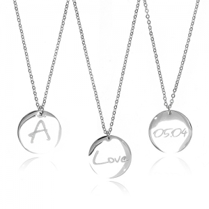 [각인목걸이]Lettering Coin Long Necklace