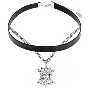 Crystal Sunburst Chain Choker