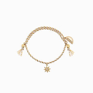 Gold Stripe Little Star Bracelet